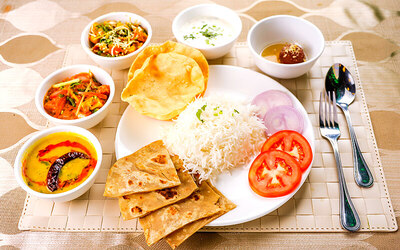 Vegetarian Thali Set Meal for 1 Person