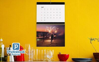 "One (1) 11"" x 8"" Personalised Wall Calendar"