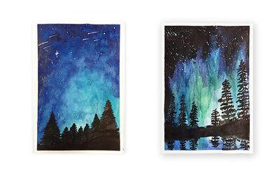 3-Hour Night Sky Watercolour Painting for 1 Person