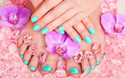 Gel Manicure with Classic Pedicure + Foot Scrub for 1 Person