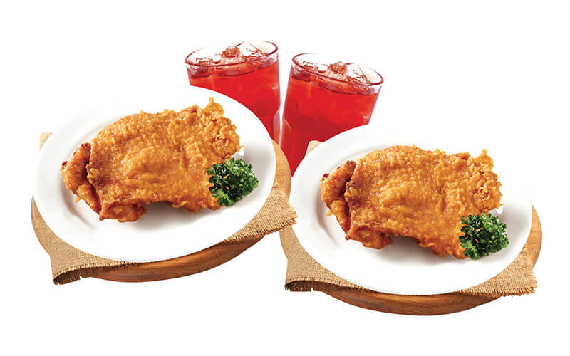 1-For-1 Crispy Chicken Thigh with Roselle Tea