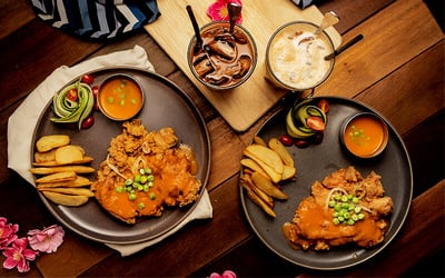 Hainanese Chicken Chop Set for 2 People