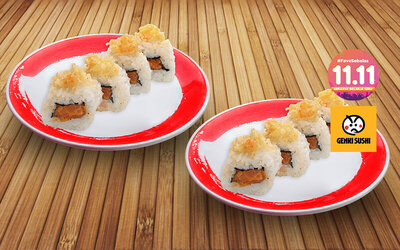 [#FaveSebelas] Buy 1 Get 1 Crispy Spicy Salmon Roll