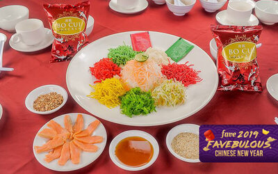[CNY] Salmon Yee Sang for 4 People (Takeaway)
