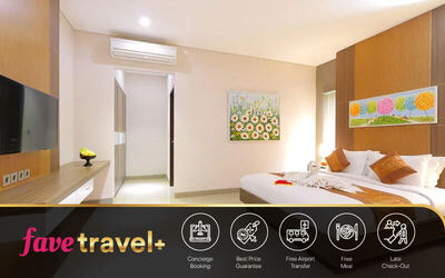 [FAVE Travel+] Kuta: Stay 4D3N in Four Bedroom Private Pool Villa for 8 Pax + Airport Transfer + 1x Afternoon Tea