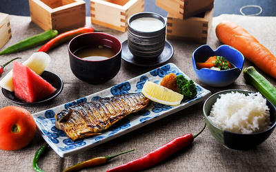 Japanese Meal with Green Tea for 1 Person