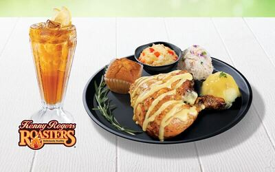 Kenny Rogers ROASTERS: Garlic Butter Chicken Meal with Ice Lemon Tea