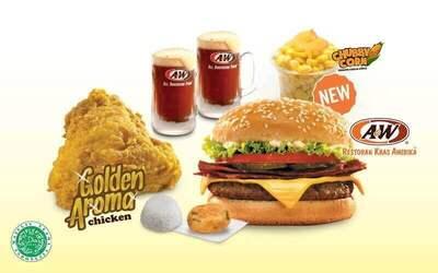 Set Menu Deluxe Burger dan Golden Aroma® Chicken untuk 2 orang