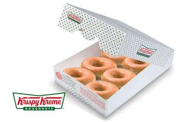 Krispy Kreme Six (6) Original Glazed Doughnuts