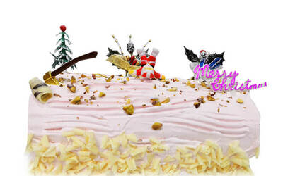 [Y.E.S] 1.2kg Lychee Martini Christmas Log Cake with Free Delivery