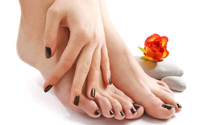 Express Gel Manicure + Express Pedicure for 1 Person