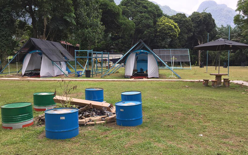 Gopeng: 2D1N Camping at Outworld White Water Basecamp for 4 People