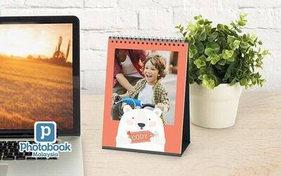 """Two (2) Identical 6"""" x 8"""" Personalised Desk Calendars"""