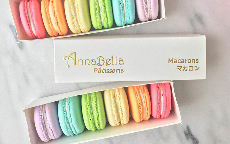 Three (3) Boxes of Classic Macarons with Gold Bag and Free Delivery
