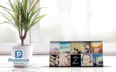 "One (1) 11"" x 5"" Personalised Desk Calendar"