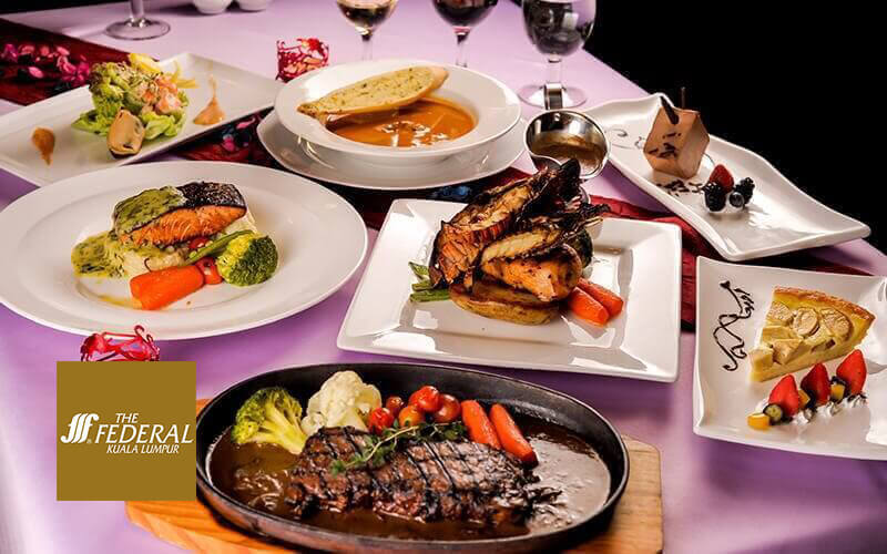 Federal Hotel: 3-Course Dinner Set for 1 Person