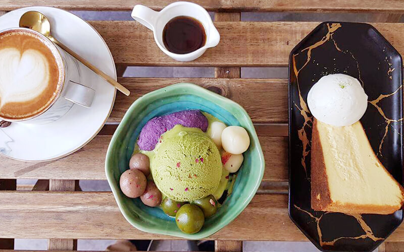 Coffee or Tea with Signature Dessert for 1 Person