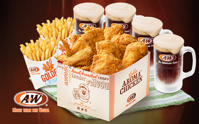 A&W: Golden / Spicy Aroma Chicken Combo with Fries and RB for 3 - 4 People