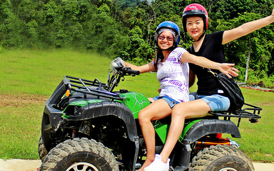 1-Hour ATV Adventure Double Rider for 2 People