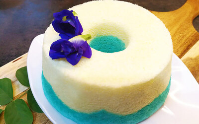 2-Hour Bluepea / Colourful Chiffon Cake Baking Workshop for 1 Person