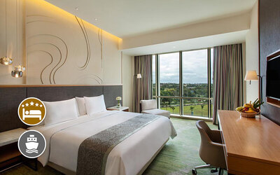(Free and Easy) Radisson Golf and Convention Center: 2D1N Stay in Superior Room + Return Ferry for 1 Person