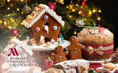 Singapore Marriott Tang Plaza Hotel: Christmas Gingerbread House (Small)