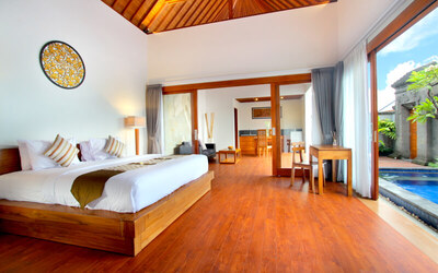 Bali: 3D2N One Bedroom Villa With Private Pool + Breakfast + One Way Airport transfer + 1x Floating Breakfast