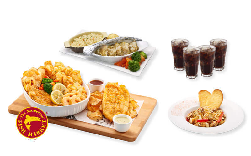 [Fave Exclusive] The Manhattan FISH MARKET: Fried Giant Platter Combo for 4 People