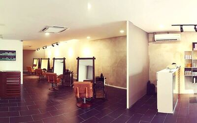 [Presale] Hair Colouring / Rebonding with Treatment, Wash, and Blow for 1 Person