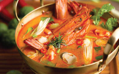 Fire Pot Seafood Tom Yum Soup for 2 People