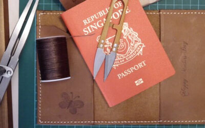 4-Hour Leather Passport Holder Crafting Workshop for 1 Person