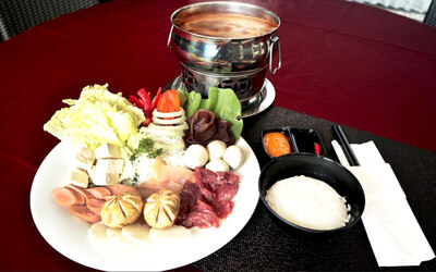 Set Menu Steamboat ala Maximo + Swimming for 2 Persons