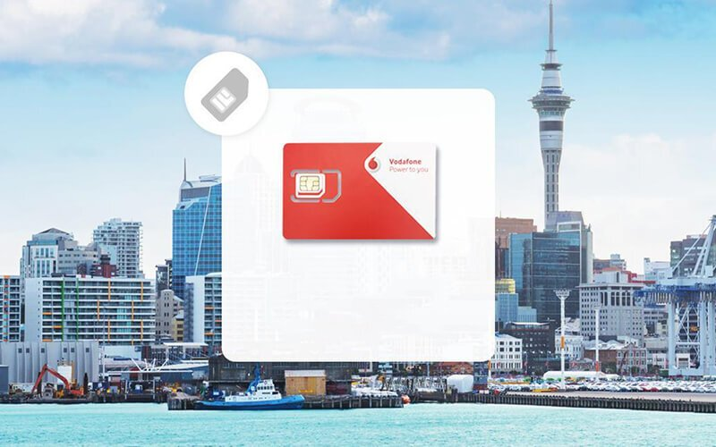New Zealand: Vodafone 4G/LTE SIM Card 4GB (Delivery to West Malaysia)