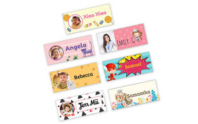 234-Piece Set of Personalised Rectangle Stickers (30mm x 13mm)