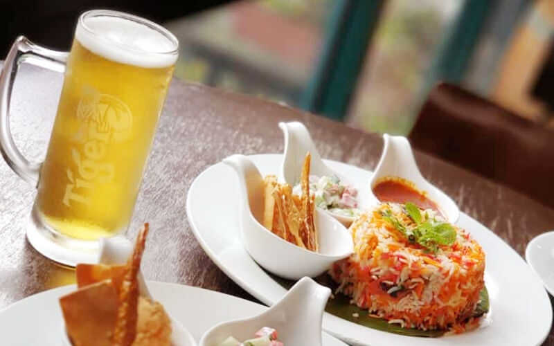 Chicken Briyani Set Meal with Beer for 1 Person