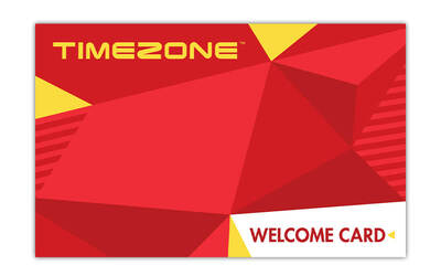 Timezone: $100 Gift Card for Arcade Games and Attractions