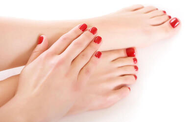 Express Manicure and Pedicure for 1 Person