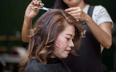 Hair Chemical Service with Hair Treatment + Cut, Wash, and Blow for 1 Person