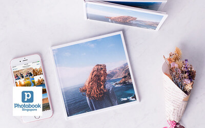 """Mobile App Deal: 20-Page Personalized 6"""" x 6"""" Simple Imagewrap Hardcover Photobook"""