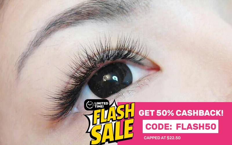 [Flash] Korean 3D Lash-by-Lash Eyelash Extension with Touch-Up for 1 Person