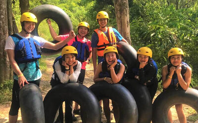 2D1N Farmstay with Meals, Rock Climbing, River Tubing, and Farm Tour for 4 People