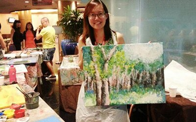 3-Hour Canvas Art Jamming Session with Drink for 1 Person