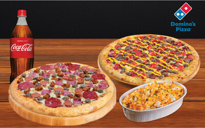 2 Medium HT Premium / Favorite Pizza + 1 Pasta + 1Lt Soft Drinks.