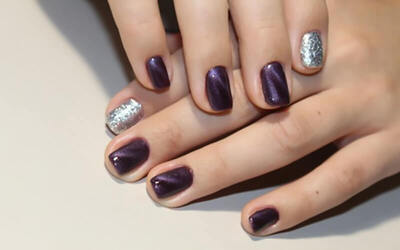 Gel Manicure with Cat Eye Nail Art for 1 Person