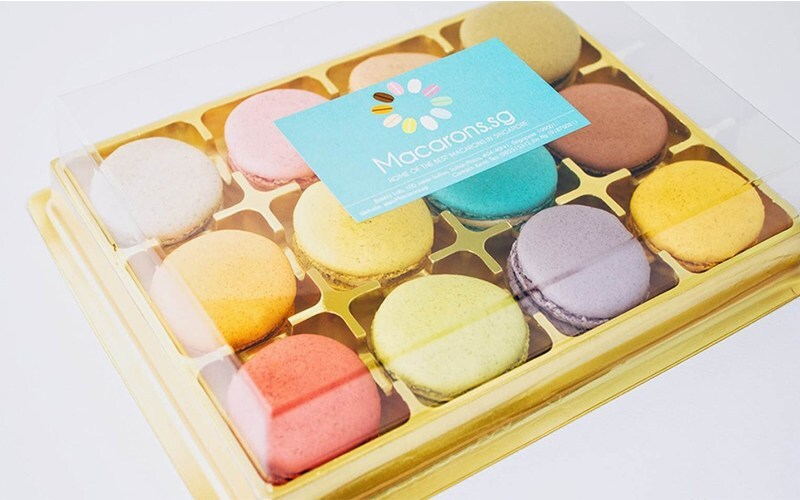 One (1) Box of 24 Assorted Macarons (1 Box)