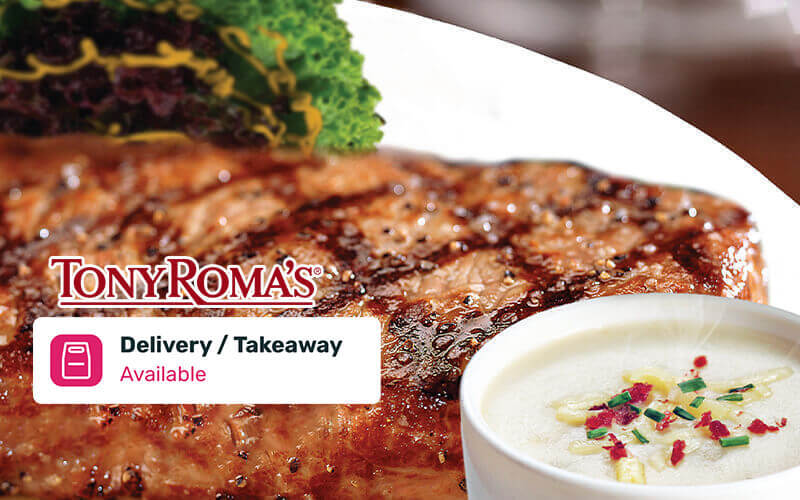 Tony Roma's New York Strip Steak (7oz) for 1 Person (Takeaway)