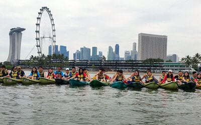 Kallang: 3-Hour Kayaking to Singapore Flyer Programme for 1 Person