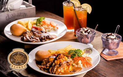Kepong: Chicken Chop with Drinks and Dessert for 2 People
