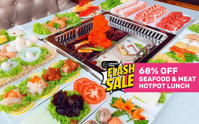 Seafood and Meat Hotpot Lunch Buffet Express for 1 Person