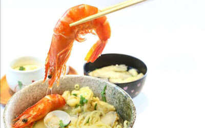 5-Course Hokkaido White Curry Ramen / Udon Set Meal and Drink for 2 People